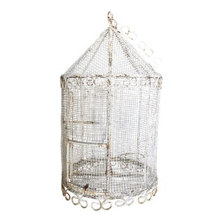 French Shabby Chic Wire Birdcage For Sale