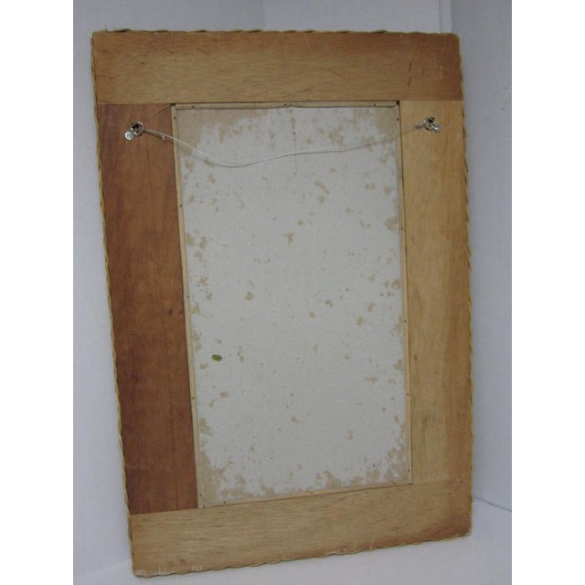 Vintage Lacquer Wicker Rattan Wall Mirror - Image 7 of 11