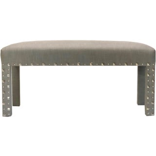 New Upholstery 2018, Nail Head Trim Parsons Bench For Sale