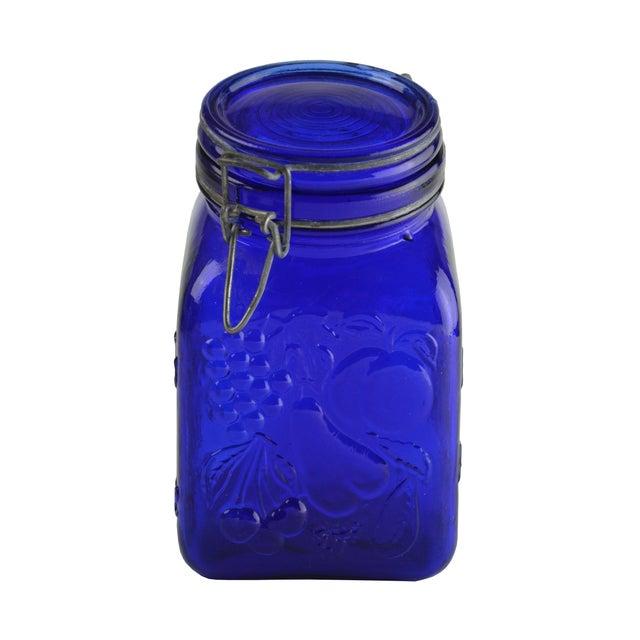 Cobalt Blue Glass Canister - Image 2 of 4
