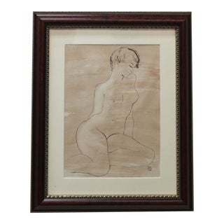 Mid-Century Nude Woman by Ruth Hilts For Sale