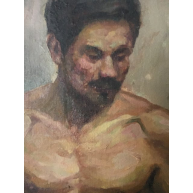 Portraiture Male Nude Portrait Painting For Sale - Image 3 of 6