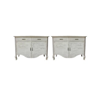 Contemporary Simon Two-Drawer Cabinets - a Pair