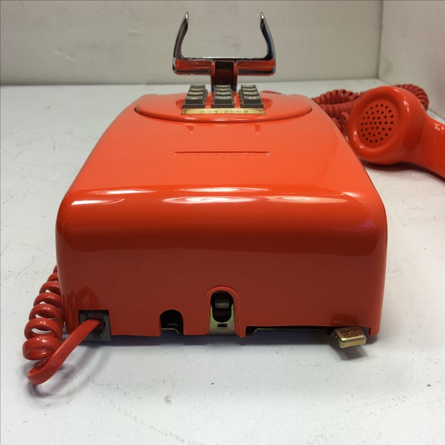Bright Orange Push Button Wall Phone For Sale - Image 7 of 11