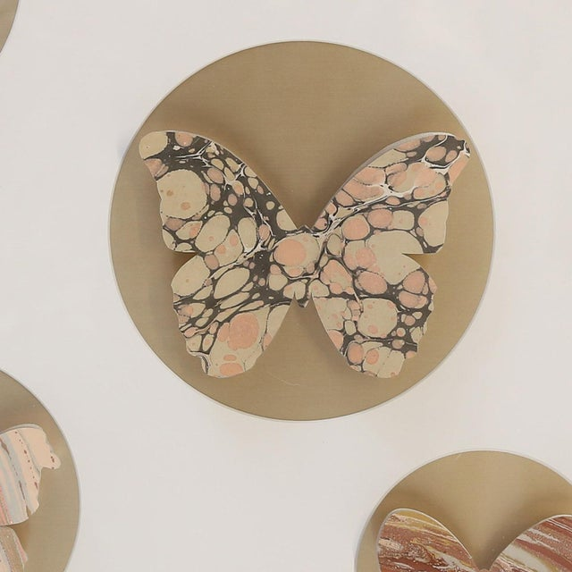 Contemporary Hand-Cut Paper Butterfly Box For Sale - Image 3 of 6