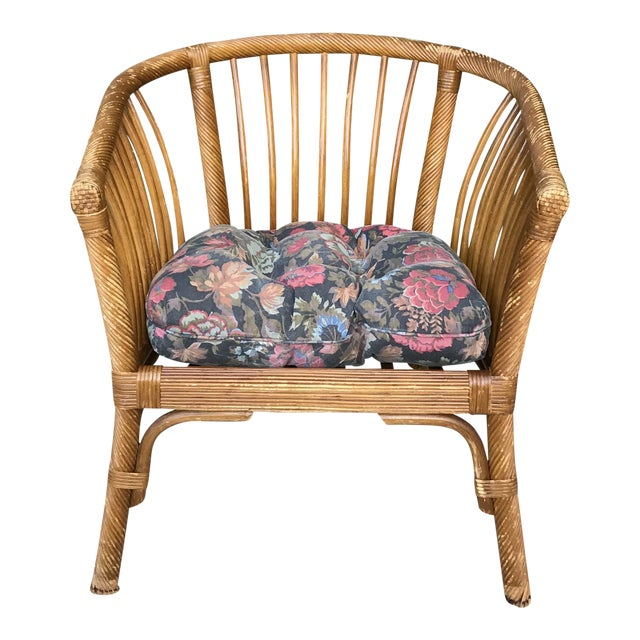 1950s Boho Chic Franco Albini Bamboo Side Chair For Sale