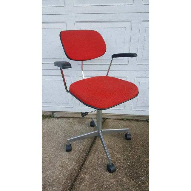 Mid-Century Danish Task / Office Chair by Labofa Denmark in Great vintage condition. Very cool chair in Aluminum and...