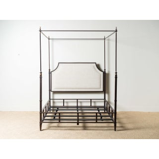 Marshall Iron & Linen Upholstered Queen Bedframe Preview