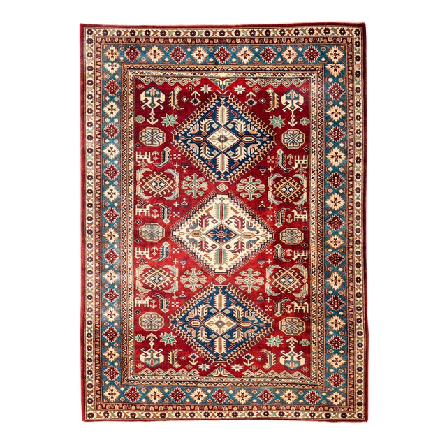 "New Traditional Hand Knotted Area Rug - 5'3"" x 6'7"" - Image 1 of 3"