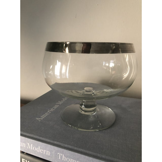 Dorothy Thorpe Dorothy Thorpe Silver Band Footed Compote and Bowl For Sale - Image 4 of 6