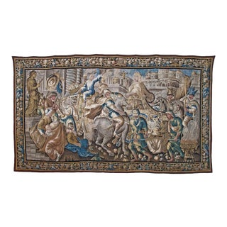 16th or 17th Century Caesar Returning to Rome Flemish Tapestry For Sale