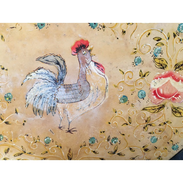 Vintage Paper Mache Rooster Motif Tray - Image 4 of 7