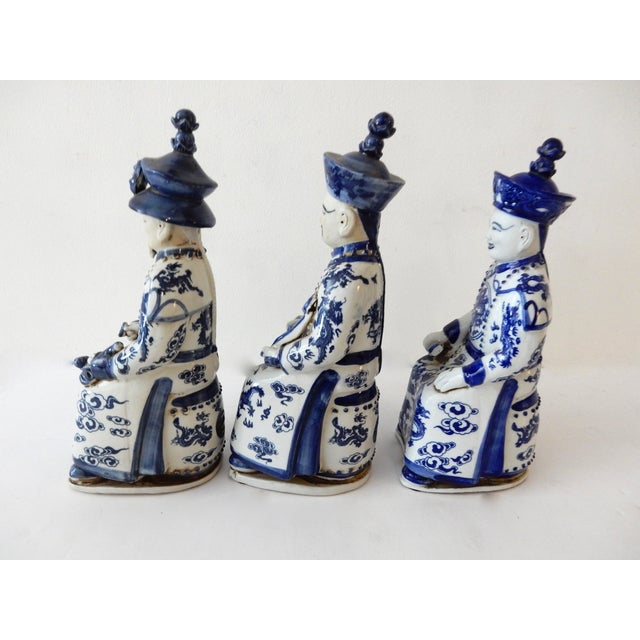 Blue and White Emperors Figures - Set of 3 - Image 6 of 6