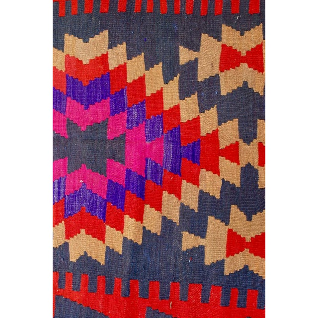 Vintage Handmade Persian Pink Kilim Rug - 3'10'' X 9'7 - Image 2 of 5