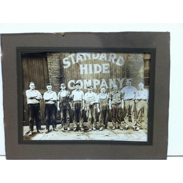 """This is an antique Mounted Black and White Photograph that is titled """"Standard Hide Company"""". The Photographer is Unknown...."""