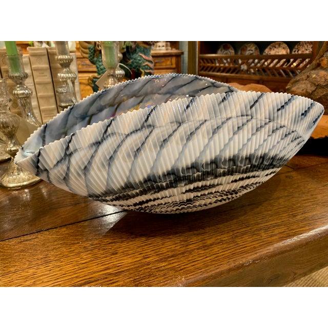 Murano Murano Glass Folded Seashell Bowl For Sale - Image 4 of 7