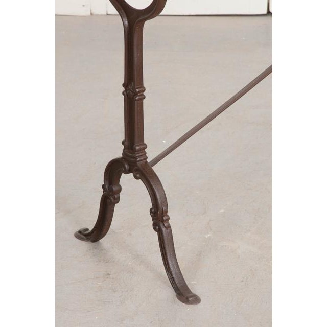 Metal French Early 20th Century Long Marble Top Bistro Table For Sale - Image 7 of 9