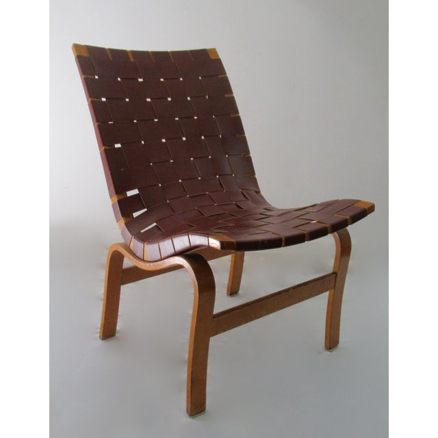 """1940s Final Markdown: 1940-49 Vintage Bruno Mathsson Mid-Century Modern Scandinavian """"Eva"""" Easy Chairs - a Pair For Sale - Image 5 of 13"""