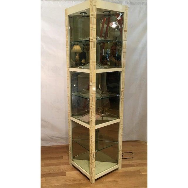 Rare Modern Baker Furniture Company Triangle Vitrine Showcase by Alessandro 1 of 2