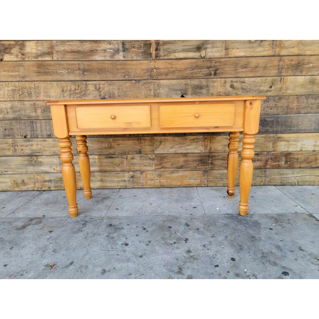 1980s Rustic Console Table with Drawers For Sale - Image 13 of 13