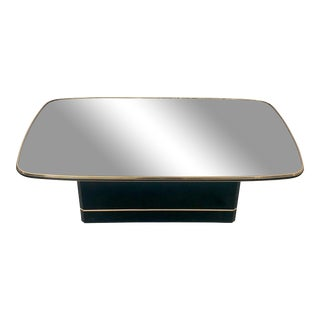 1980s Hollywood Regency Mirrored Coffee Table For Sale