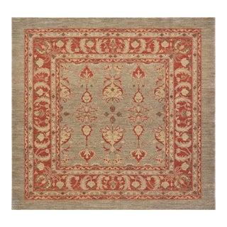 Mansour Superb Quality Handmade Square Agra Rug - 6′8″ × 7′