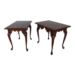 Georgetown Galleries Cherry Queen Anne End Tables - a Pair For Sale