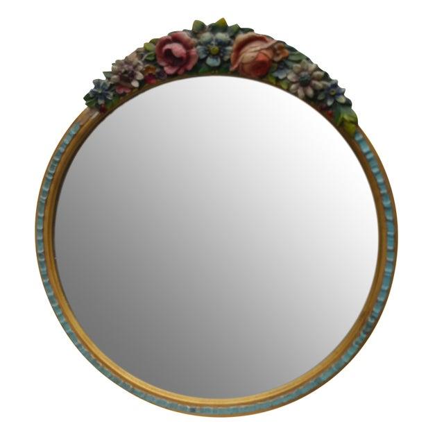 Rose Garland Barbola Mirror - Image 1 of 7