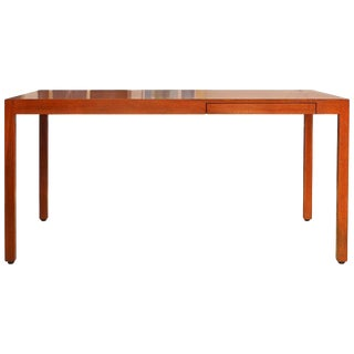 Superb Design Mahogany Table With Drawer by Stan Lind for Geiger For Sale