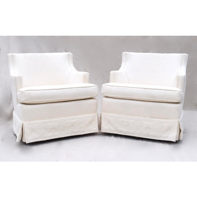 Swivel Rocking Club Chairs - A Pair - Image 4 of 11