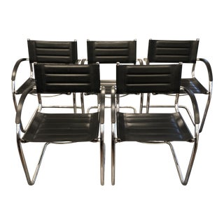 Mid Century Modern Chrome Chairs - Set of 5 For Sale