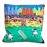 Image of 1980s Mexican Folk Art Tennis Pillow - 20ʺW × 20ʺH For Sale