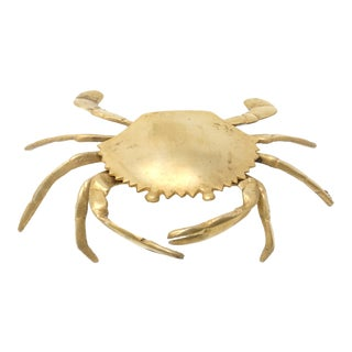 Vintage Brass Crab Ashtray or Box For Sale