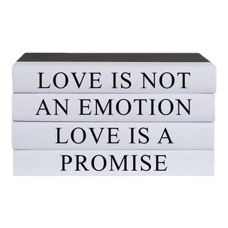 Love Is a Promise Quote Book Stack - 4 Pieces For Sale
