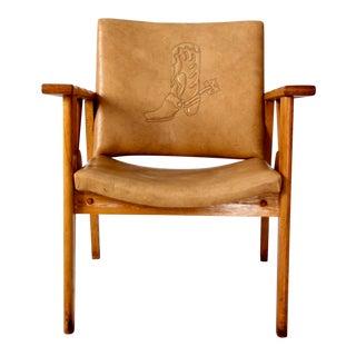 Mid-Century Wagon Wheel Chair