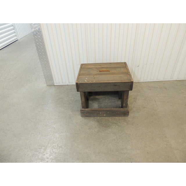 Rustic Primitive Style Artisanal Rectangular Step Stool For Sale - Image 4 of 7