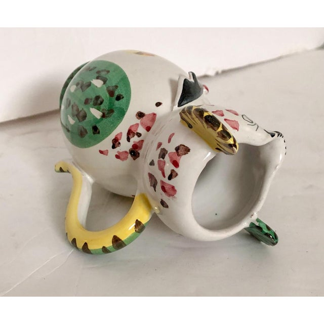 Mid 20th Century Artisan Italian Pitcher Whimsical Cat in Tuxedo For Sale - Image 5 of 7