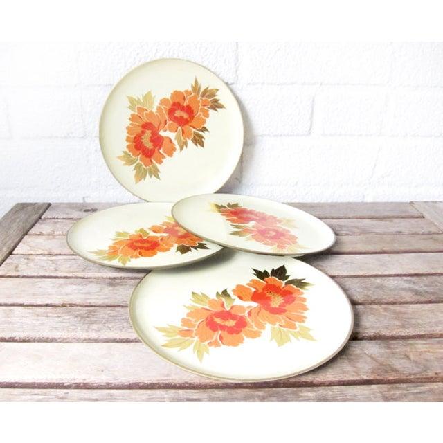 Vintage Otagiri Floral Plates- Set of 4 - Image 3 of 6