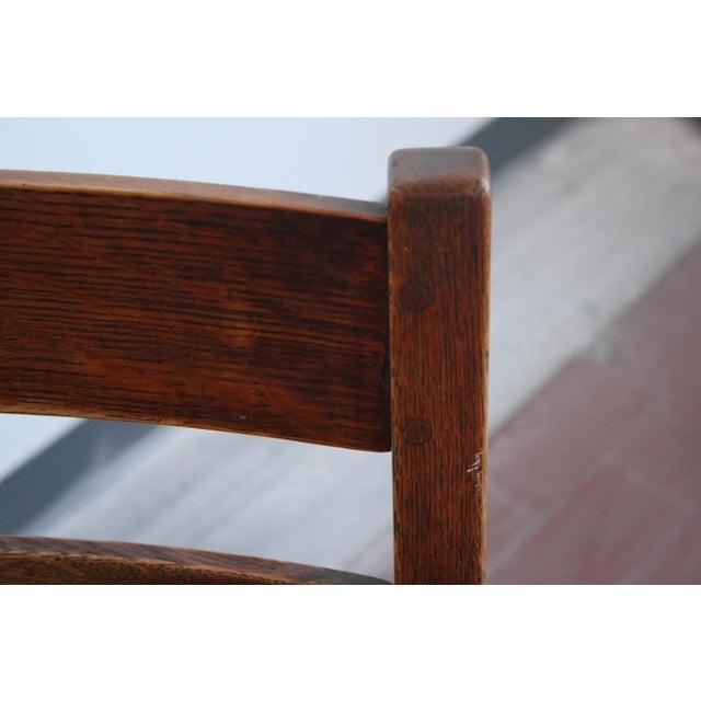 1900s Antique L & Jg Stickley Rocking Chair For Sale - Image 9 of 12