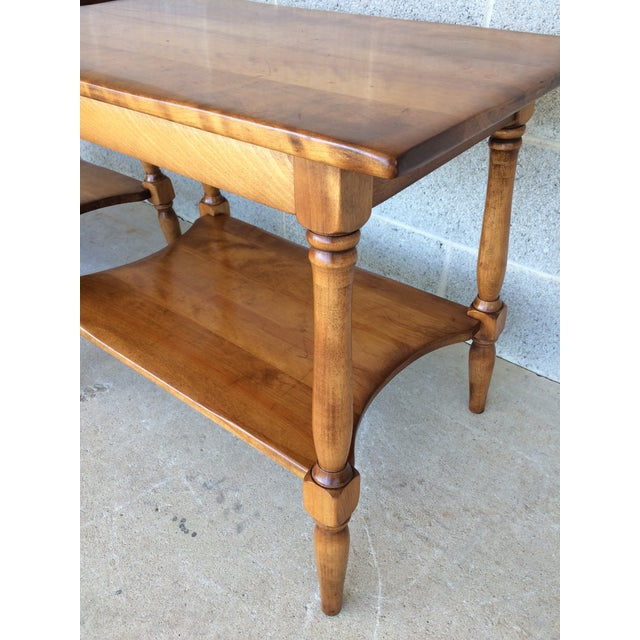 Brown Cushman Colonial Maple End Tables - A Pair For Sale - Image 8 of 10
