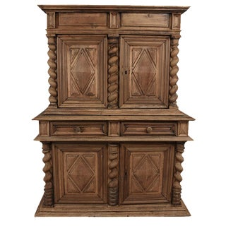 Early 19th Century French Renaissance Bleach Wood Buffet