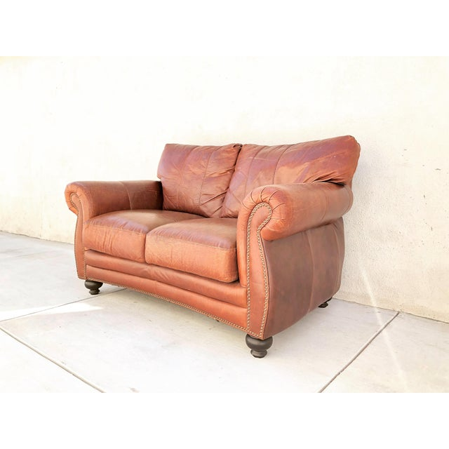 Vintage Rapallo Italian Leather Sofa For Sale - Image 4 of 8
