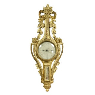 Louis XVI Giltwood Barometer For Sale