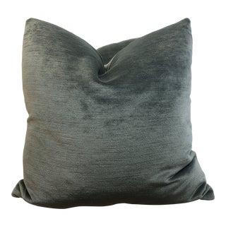 "Clarke & Clarke "" Majestic Velvet"" in Jade 22"" Pillows -A Pair For Sale"