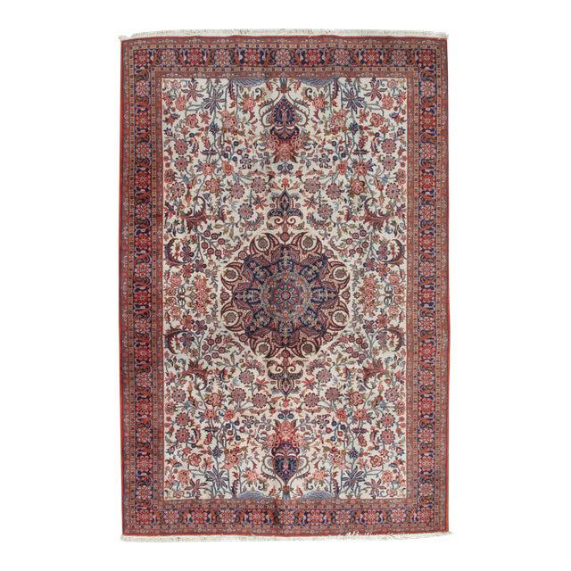 """Vintage Sarouk Hand Woven Rug 6'5"""" X 9'10"""" For Sale In New York - Image 6 of 6"""