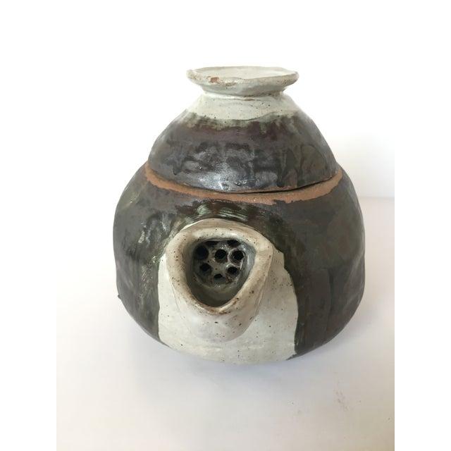 Large Primitive Handmade Tea Pot For Sale - Image 4 of 11