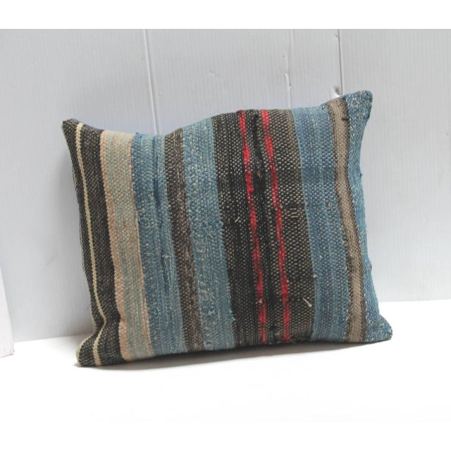 Group of Three 19th American Rag Rug Pillows For Sale - Image 4 of 5