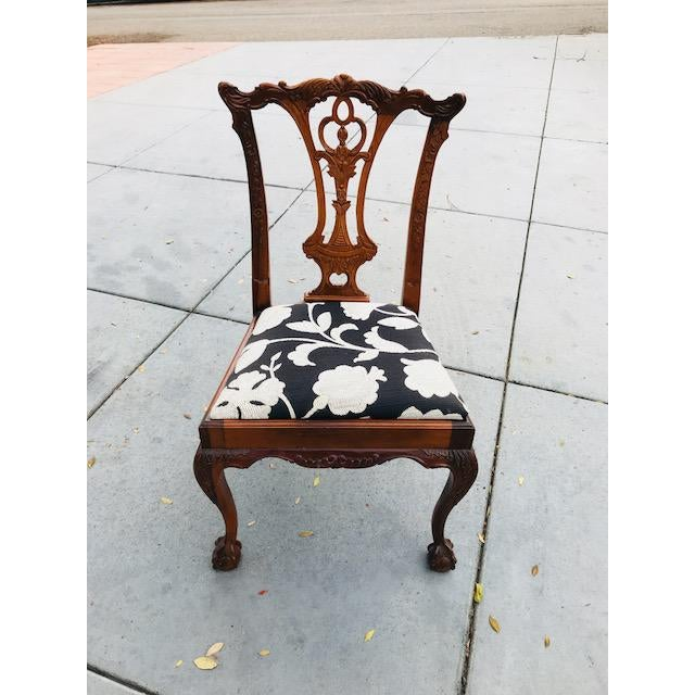 Chippendale Chippendale Claw Foot and Ball Dining Chairs - Set of 8 For Sale - Image 3 of 9