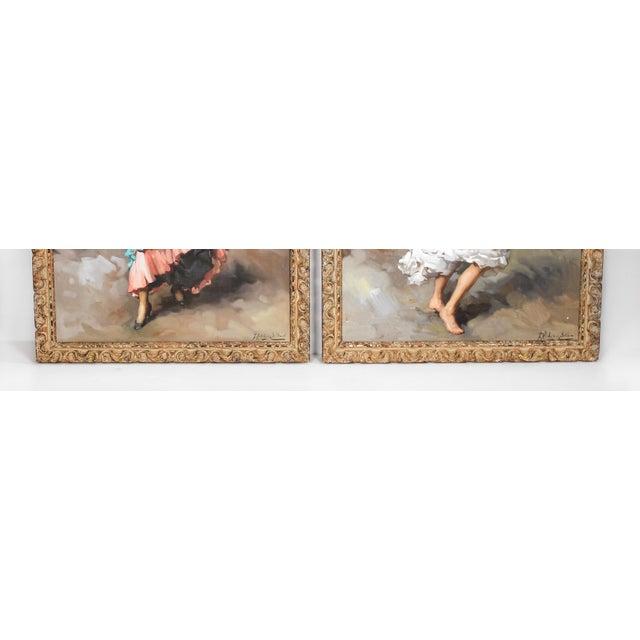 Francesco Rodriguez San Clemente Francesco Rodriguez San Clemente Framed Oil Paintings - a Pair For Sale - Image 4 of 6