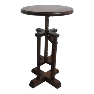 Antique Adjustable Jack Lamp End Table